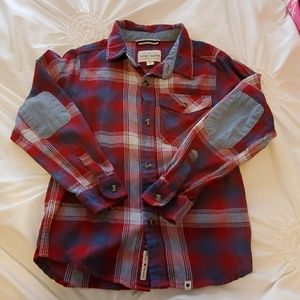 Boys lucky brand flannel button up